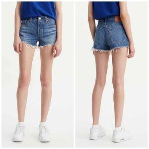 Levi's 501 Midrise Denim Jean Cutoff Shorts